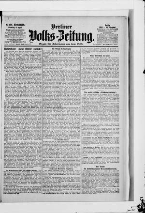 Berliner Volkszeitung vom 10.04.1906
