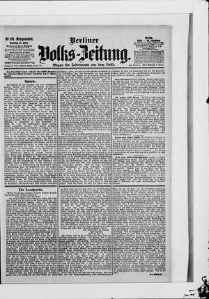 Berliner Volkszeitung vom 15.04.1906