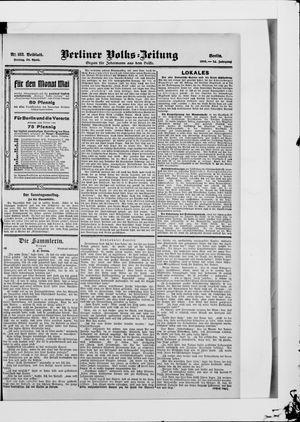 Berliner Volkszeitung vom 20.04.1906