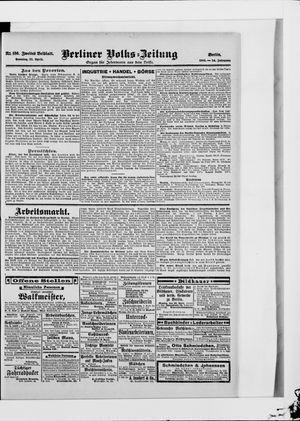 Berliner Volkszeitung vom 22.04.1906