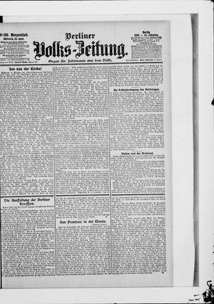 Berliner Volkszeitung vom 25.04.1906