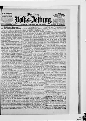 Berliner Volkszeitung vom 26.04.1906