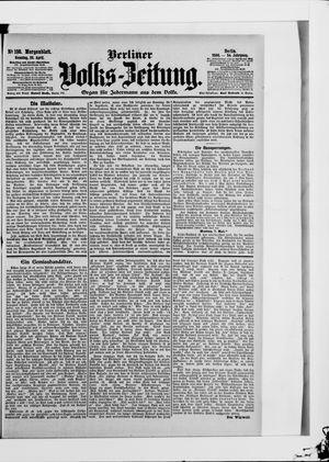 Berliner Volkszeitung vom 29.04.1906