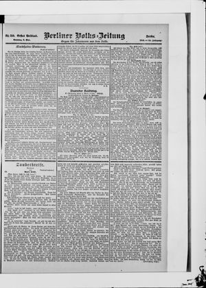 Berliner Volkszeitung vom 06.05.1906