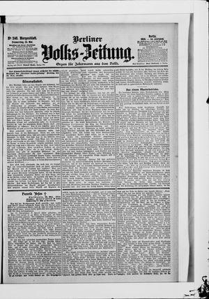 Berliner Volkszeitung vom 24.05.1906