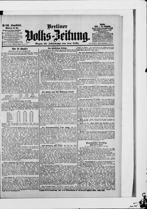 Berliner Volkszeitung on May 30, 1906