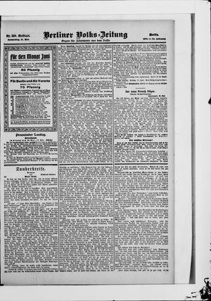 Berliner Volkszeitung vom 31.05.1906