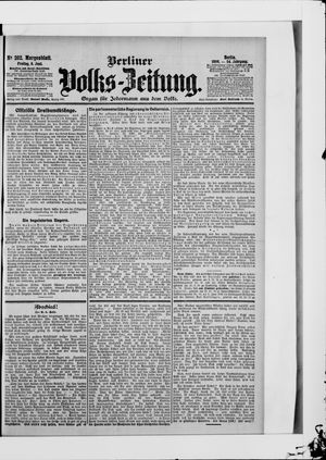 Berliner Volkszeitung vom 08.06.1906