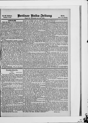 Berliner Volkszeitung on Jun 12, 1906
