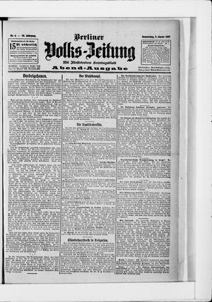 Berliner Volkszeitung vom 03.01.1907