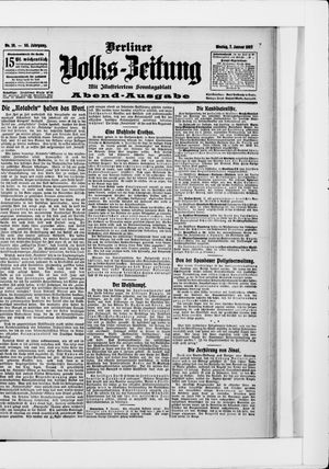 Berliner Volkszeitung vom 07.01.1907