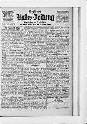 Berliner Volkszeitung vom 09.01.1907