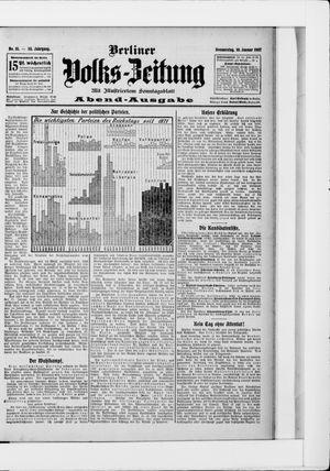 Berliner Volkszeitung vom 10.01.1907
