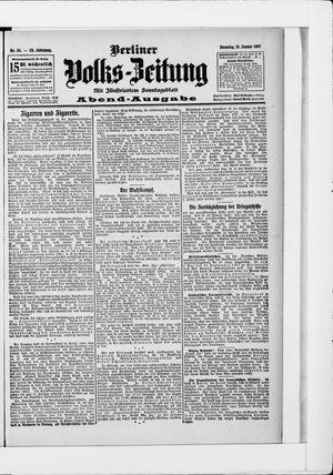 Berliner Volkszeitung vom 15.01.1907