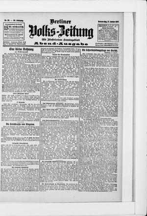 Berliner Volkszeitung vom 17.01.1907