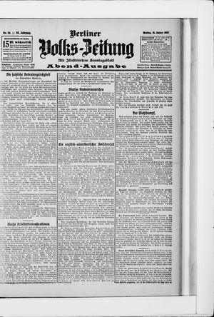 Berliner Volkszeitung vom 21.01.1907