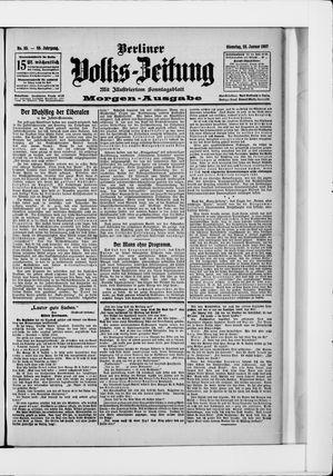 Berliner Volkszeitung vom 22.01.1907