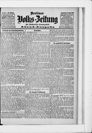 Berliner Volkszeitung on Jan 24, 1907