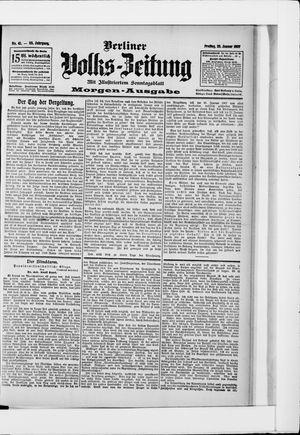 Berliner Volkszeitung on Jan 25, 1907
