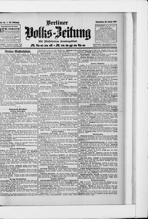 Berliner Volkszeitung vom 26.01.1907