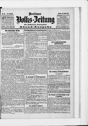 Berliner Volkszeitung vom 28.01.1907