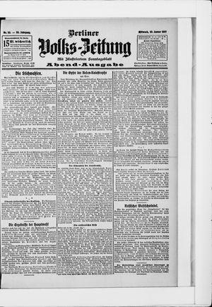 Berliner Volkszeitung vom 30.01.1907