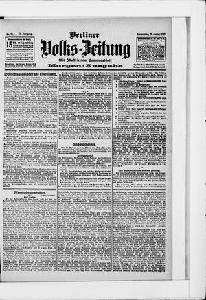 Berliner Volkszeitung vom 31.01.1907