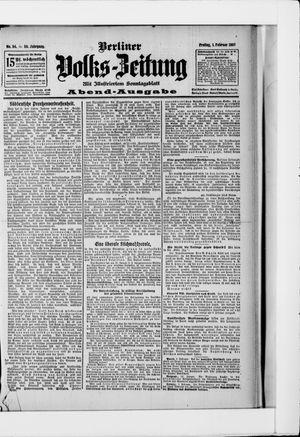 Berliner Volkszeitung vom 01.02.1907