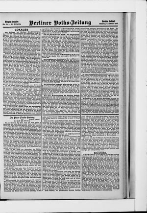 Berliner Volkszeitung vom 03.02.1907