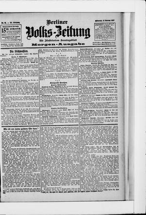 Berliner Volkszeitung vom 06.02.1907