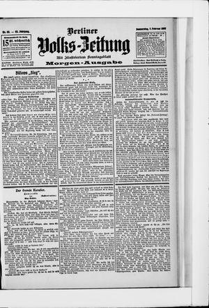 Berliner Volkszeitung vom 07.02.1907