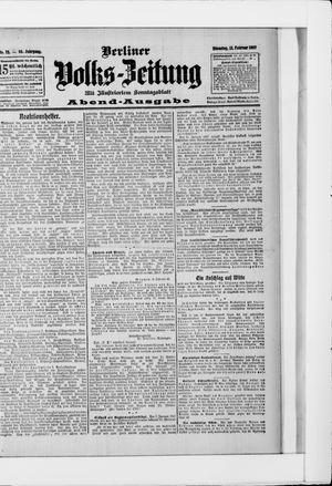 Berliner Volkszeitung vom 12.02.1907