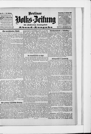 Berliner Volkszeitung vom 14.02.1907