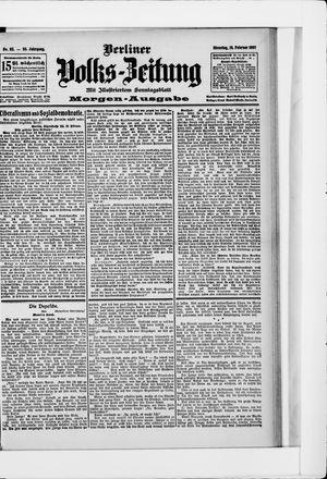 Berliner Volkszeitung vom 19.02.1907