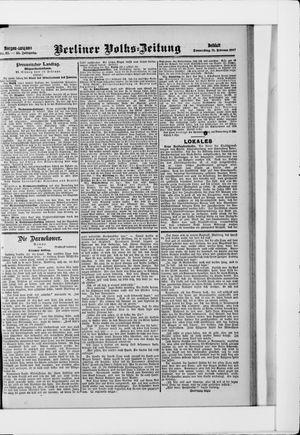 Berliner Volkszeitung vom 21.02.1907