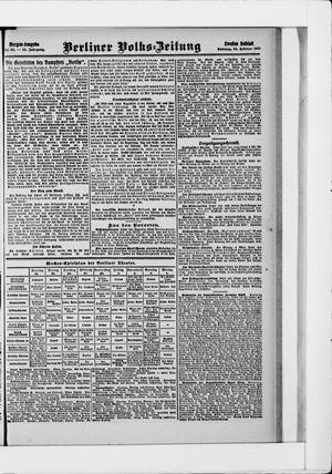 Berliner Volkszeitung vom 24.02.1907