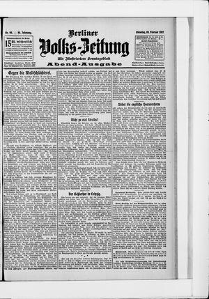 Berliner Volkszeitung vom 26.02.1907
