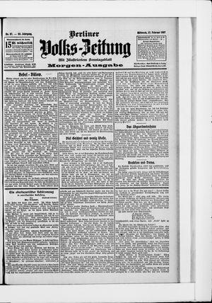 Berliner Volkszeitung vom 27.02.1907