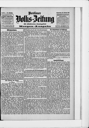 Berliner Volkszeitung vom 28.02.1907