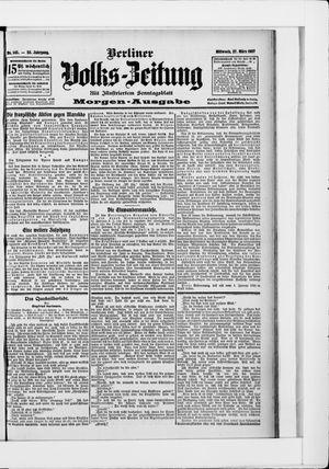 Berliner Volkszeitung vom 27.03.1907