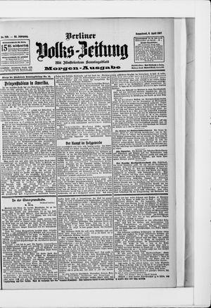 Berliner Volkszeitung vom 06.04.1907