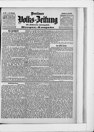 Berliner Volkszeitung vom 09.04.1907
