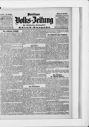 Berliner Volkszeitung vom 10.04.1907