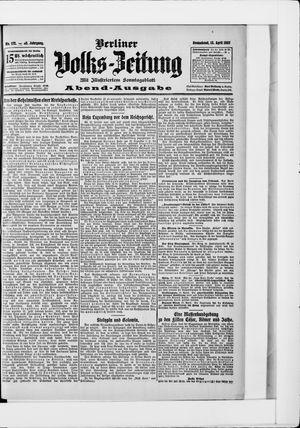 Berliner Volkszeitung vom 13.04.1907
