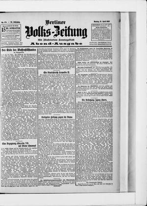 Berliner Volkszeitung vom 15.04.1907