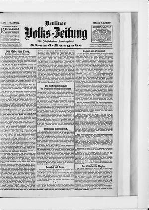 Berliner Volkszeitung vom 17.04.1907
