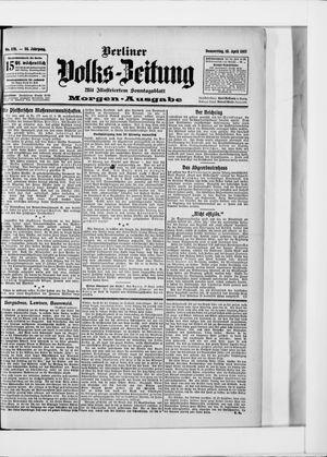 Berliner Volkszeitung vom 18.04.1907
