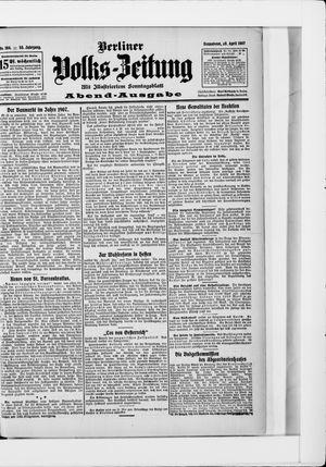 Berliner Volkszeitung vom 20.04.1907