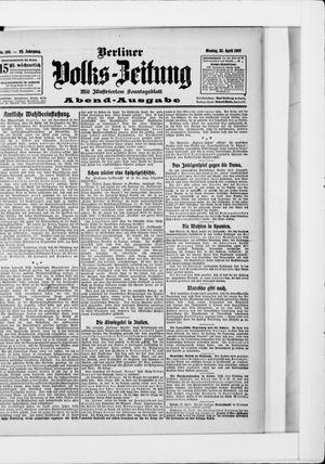 Berliner Volkszeitung vom 22.04.1907