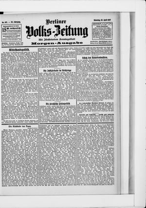Berliner Volkszeitung vom 23.04.1907